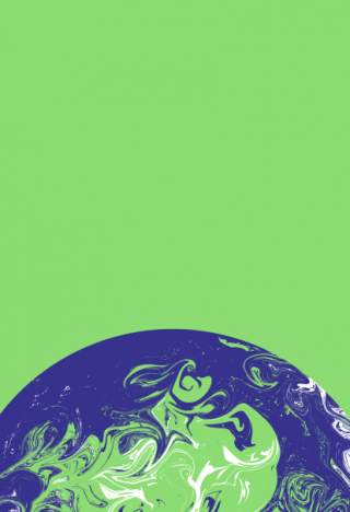 An image of a globe against a green background